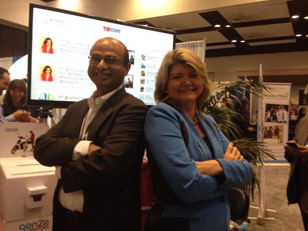 TiEcon Marketing Chair Anand Akela and Sandy Carter , IBM VP battling for number #1 spot on Tweetwall