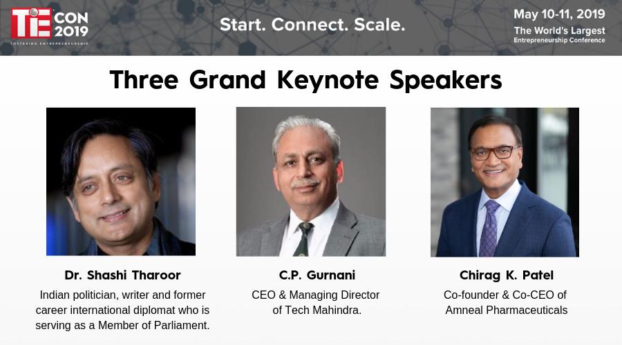 Three Grand Keynote Speakers at TiEcon 2019 - TiEcon 2019