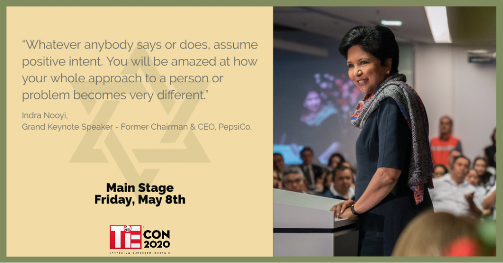 Mrs. Indra Nooyi, Former Chairman and CEO, PepsiCo. TiEcon